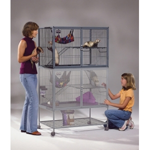 "Ferret Nation Double Unit, 36"" x 25"" x 63.25"""