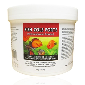 Fish Zole Forte (Metronidazole) Powder 500 mg, 60 Packets
