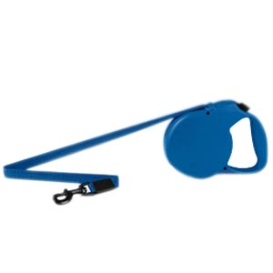 Flexi Classic All Belt Blue Leash, Large 16 ft