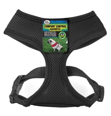 Four Paws Comfort Control Harness, Extra Small, Black