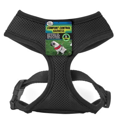Four Paws Comfort Control Harness, Small, Black
