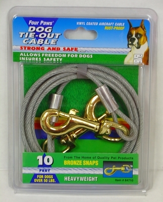 Four Paws Dog Tie-Out Cable, Heavy Weight, 10 ft