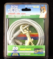 Four Paws Dog Tie-Out Cable, Heavy Weight, 20 ft
