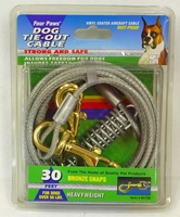 Four Paws Dog Tie-Out Cable, Heavy Weight, 30 ft