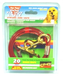 Four Paws Dog Tie-Out Cable, Medium Weight, 20 ft