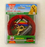 Four Paws Dog Tie-Out Cable, Medium Weight, 30 ft