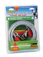 Four Paws Dog Tie-Out Cable, Super Heavy Weight, 20 ft