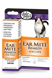 Four Paws Ear Mite Remedy for Cats, 1 oz