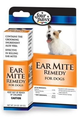 Four Paws Ear Mite Remedy for Dogs, 1 oz