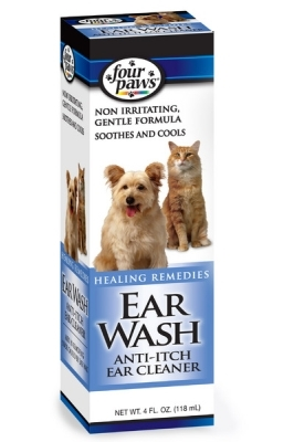 Four Paws Ear Wash for Dogs & Cats, 4 oz