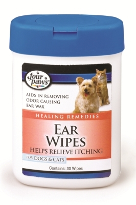 Four Paws Ear Wipes for Dogs & Cats, 30 ct