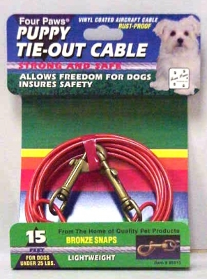 Four Paws Puppy Tie-Out Cable, 15 ft