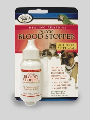 Four Paws Quick Blood Stopper Gel for Dogs, Cats & Birds, 1.16 oz