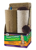 Four Paws Super Catnip Full-Sized Scratching Post, 21 in
