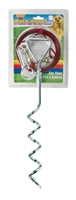 Four Paws Walk About Spiral Tie-Out Stake with 15 ft Lightweight Cable, 19 in