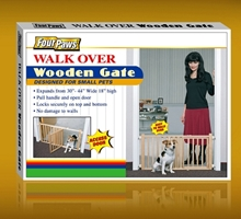 Four Paws Walk Over Wooden Gate, 30 in X 18 in