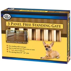 Free Standing Walk Over Wood Gate, 3 Panel