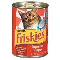 Friskies Classic Pate Supreme Supper,13 oz - 24 Pack