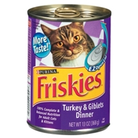 Friskies Classic Pate Turkey & Giblets Dinner, 13 oz - 24 Pack