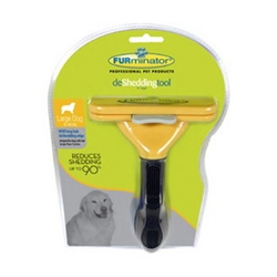 "FURminator deShedding Tool For Large Dogs, 4"" Long Hair Edge"