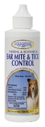 Gold Medal Pets Herbal & Botanical Ear Mite & Tick Control Ear Drops for Dogs & Cats, 4 oz