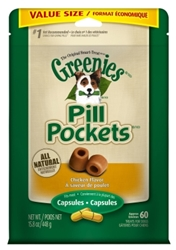 Greenies Chicken Pill Pockets for Dogs, Tablets, 15.8 oz, 60 ct