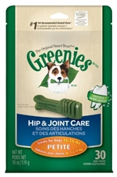 Greenies Hip & Joint Care Treat Pack for Petite Dogs, 18 oz, 30 ct