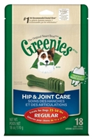 Greenies Hip & Joint Care Treat Pack for Regular Dogs, 18 oz, 18 ct