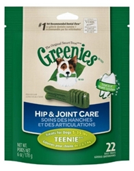 Greenies Hip & Joint Care Treat Pack for Teenie Dogs, 6 oz, 22 ct