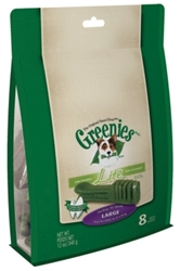 Greenies Lite Treat Pack for Large Dogs, 12 oz, 8 ct