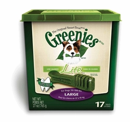 Greenies Lite Tub Treat Pack for Large Dogs, 27 oz, 17 ct