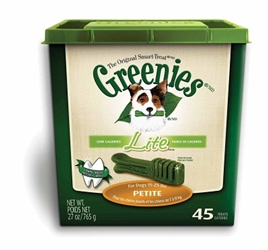Greenies Lite Tub Treat Pack for Petite Dogs, 27 oz, 45 ct