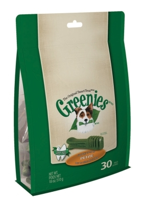 Greenies Mega Treat Pack for Petite Dogs, 18 oz, 30 ct