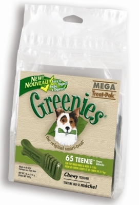Greenies Mega Treat Pack for Teenie Dogs, 18 oz, 62 ct