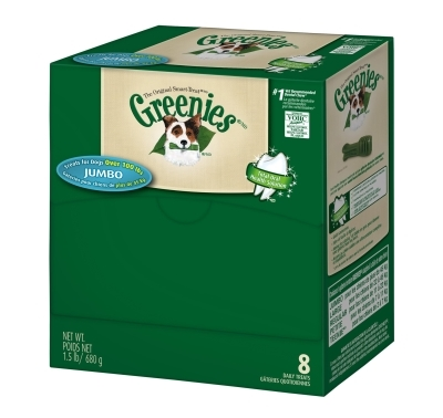 Greenies Mini Me Merchandiser Treat Pack for Jumbo Dogs, 1.5 lbs, 8 ct
