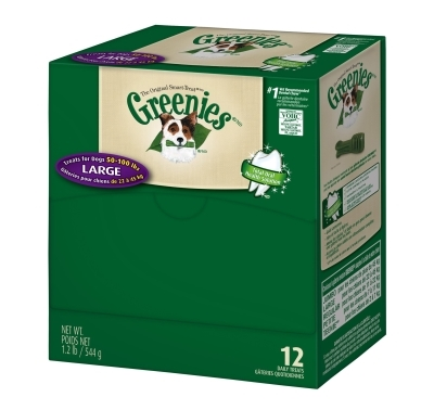 Greenies Mini Me Merchandiser Treat Pack for Large Dogs, 1.2 lbs, 12 ct