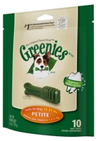 Greenies Mini Treat Pack for Petite Dogs, 6 oz, 10 ct