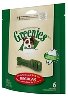 Greenies Mini Treat Pack for Regular Dogs, 6 oz, 6 ct
