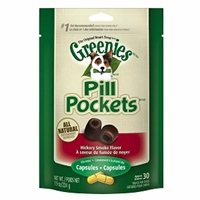 Greenies Pill Pockets, Hickory Smoke, 30 Capsules | VetDepot.com
