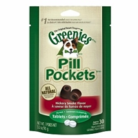 Greenies Pill Pockets, Hickory Smoke, 30 Tablets - 6 Pack | VetDepot.com