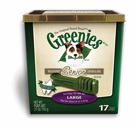 Greenies Senior Tub Treat Pack for Large Dogs, 27 oz, 17 ct