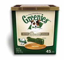 Greenies Senior Tub Treat Pack for Petite Dogs, 27 oz 45 ct