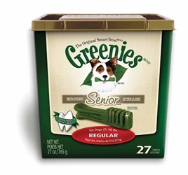 Greenies Senior Tub Treat Pack for Regular Dogs, 27 oz, 27 ct