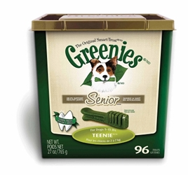 Greenies Senior Tub Treat Pack for Teenie Dogs, 27 oz, 96 ct