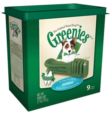 Greenies Tub Treat Pack for Jumbo Dogs, 27 oz, 9 ct