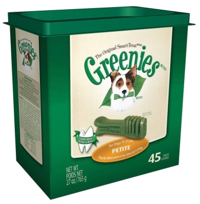 Greenies Tub Treat Pack for Petite Dogs, 27 oz, 45 ct