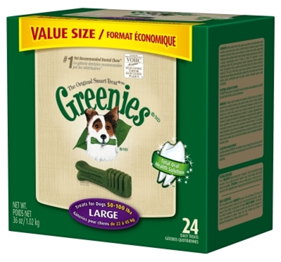 Greenies Value Tub Pack for Large Dogs, 36 oz, 24 ct
