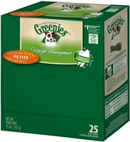 Greenies Weight Management Mini-Me Merchandiser Treat Pack for Teenie Dogs, 11.2 oz, 40 ct