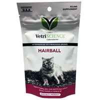 Vetri-Science Hairball Feline Supplement, 60 Bite-Sized Chews