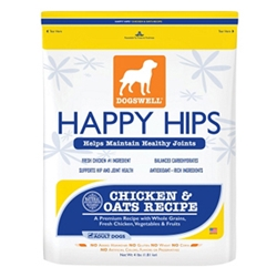 Happy Hips Chicken & Oats Dog Food, 4 lb - 6 Pack